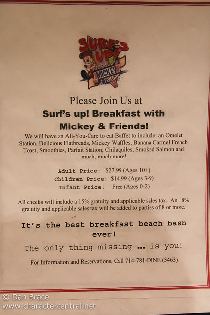 Surf's Up! Breakfast with Mickey & Friends