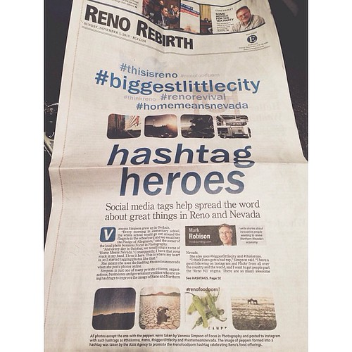 Pretty darn excited to have an interview and photos in the #RGJ today. #hashtaghashtaghashtag  #homemeansnevada #thinkreno #thisisreno