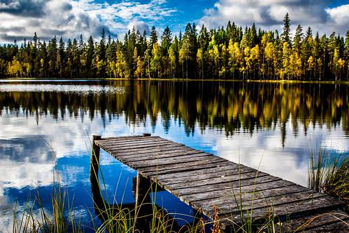 autumn sky lake color fall water clouds canon reflections finland see wasser finnland day cloudy herbst 24105 pori 650d joutsijärvi kullaa pwfall rekitaipaleenjärvi