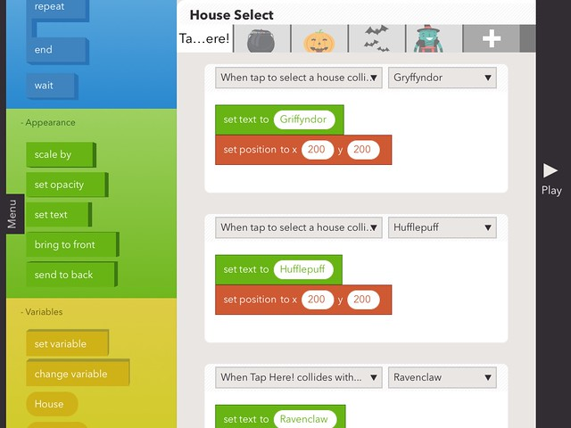 Hopscotch for iPad Coding