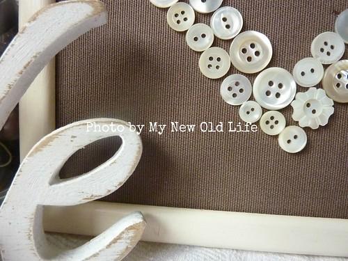 quadretto handmade bottoni vintage