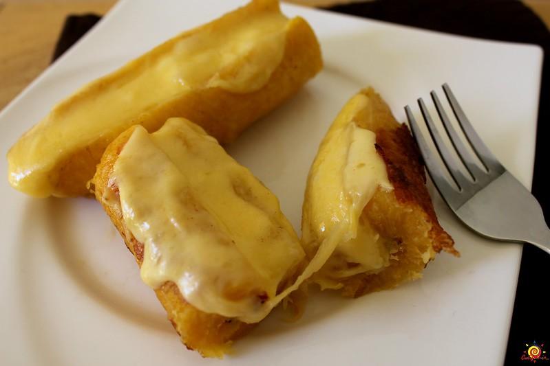 pl tanos maduros con queso recetas