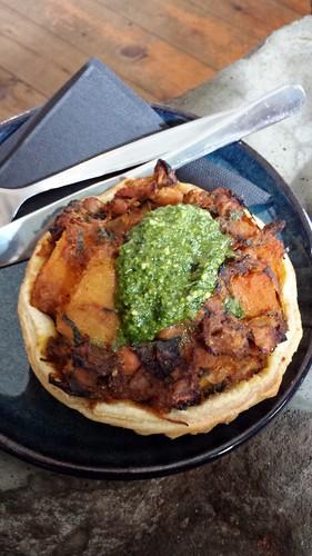 Black Star Pastry: Pumpkin Coriander Chickpea Tart with Pesto