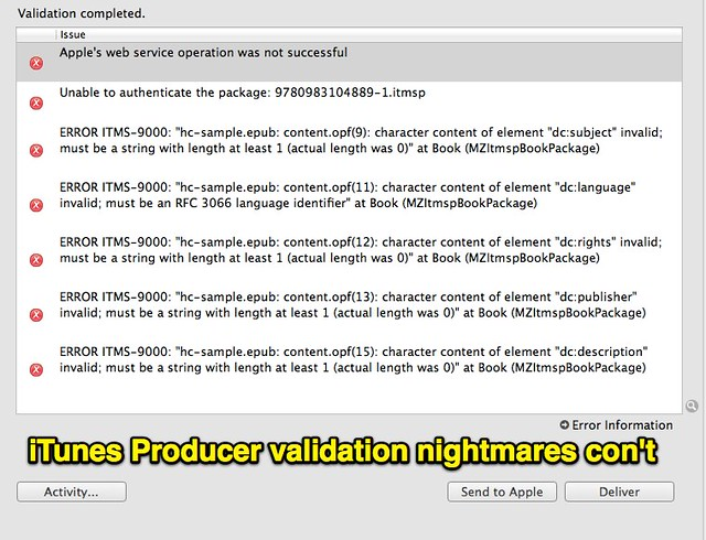 iTunes Producer validation nightmares continued...