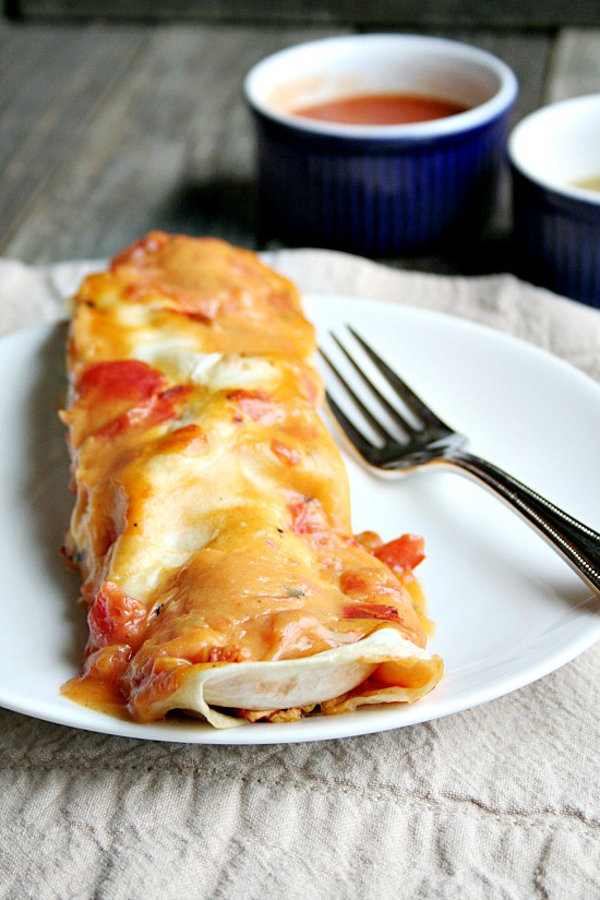 Campbell's Cheesy Chicken Enchiladas