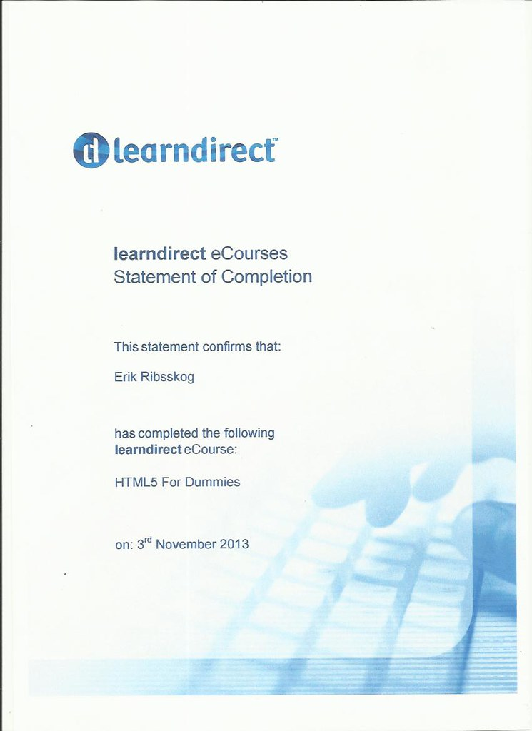 certificate learn direct