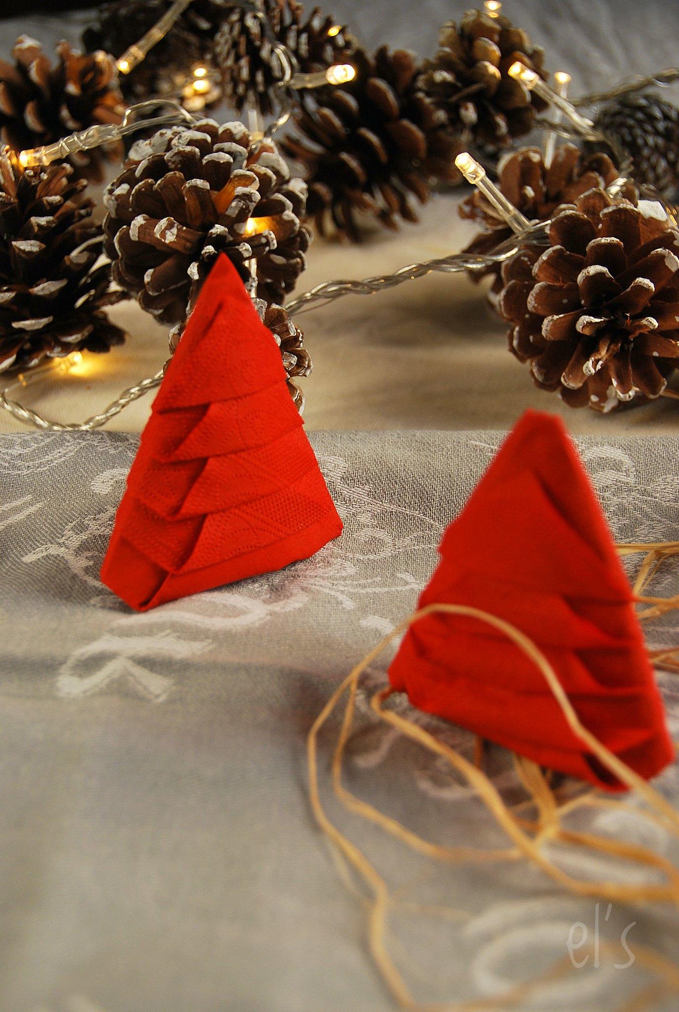 Pliage serviette de Noël