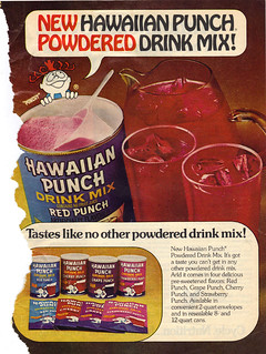 """NEW HAWAIIAN PUNCH POWDERED DRINK MIX - "" (( 1976 ))"