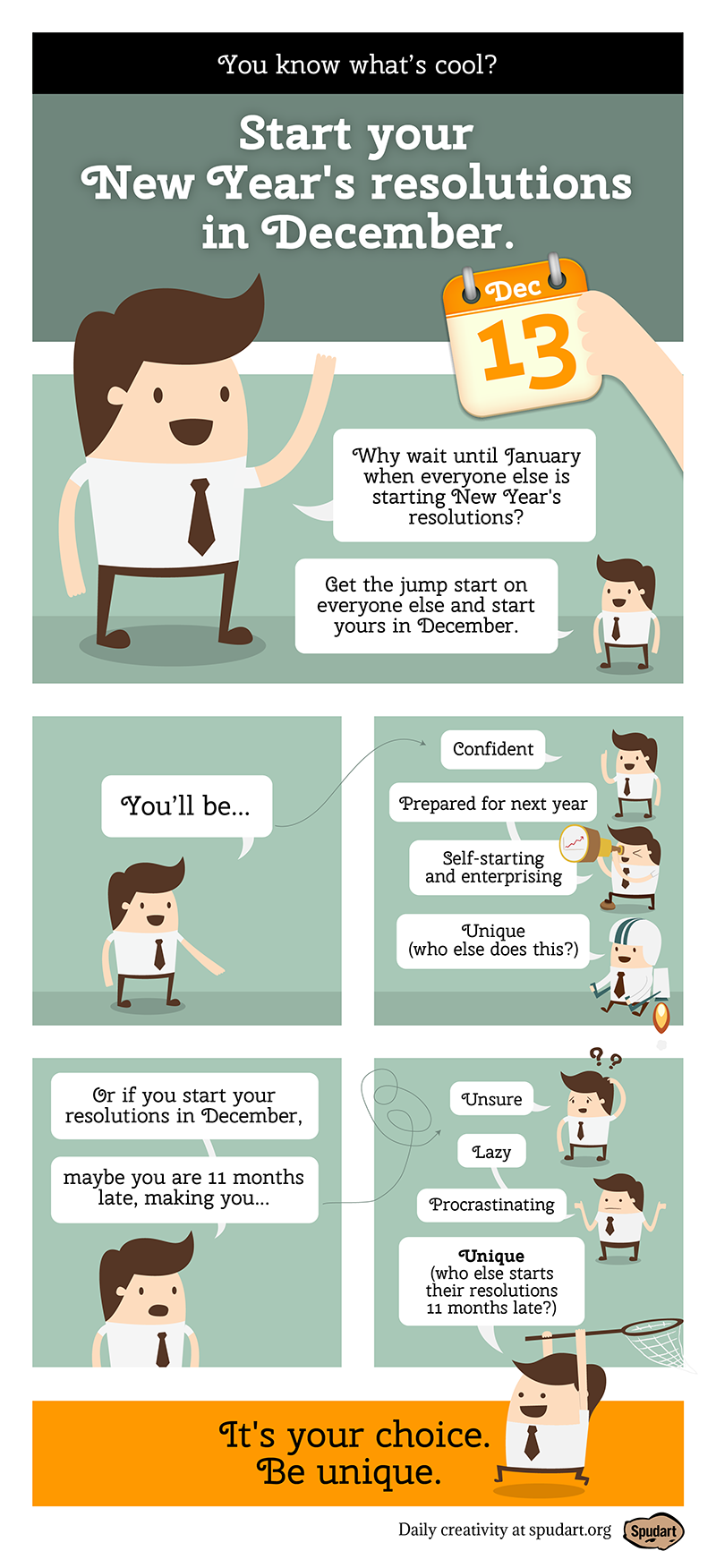 When should you really begin your resolutions? [webcomic]