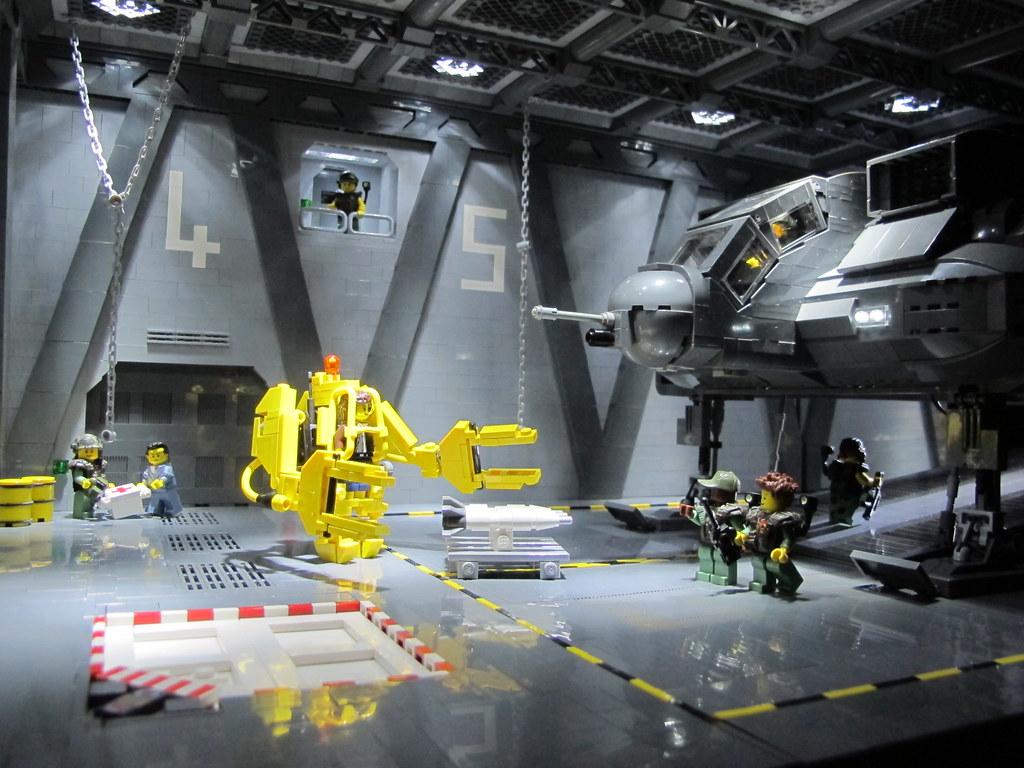 Sulaco Loading Bay (custom built Lego model)
