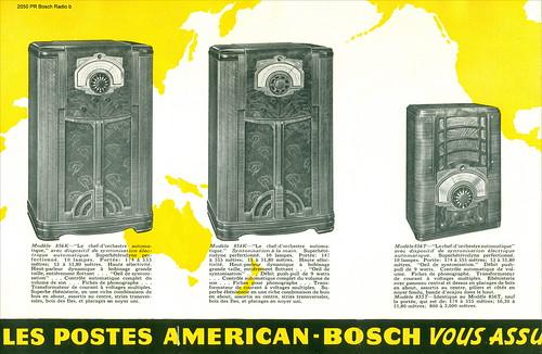 Croatia. Zagreb Year ~ 1938. American - Bosch Radio - 1938. Les Noveaux Modeles  UNITED AMERICAN BOSCH CORPORATION SPRINGFIELD U.S.A. 2050 PR Bosch Radio b