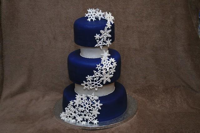 Snowflake Wedding Cake Topper Uk