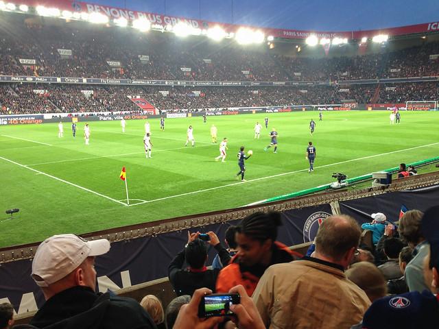 Paris Saint-Germain game at night