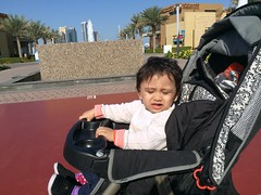Atiksh enjoying a cool morning in Majaz waterfront