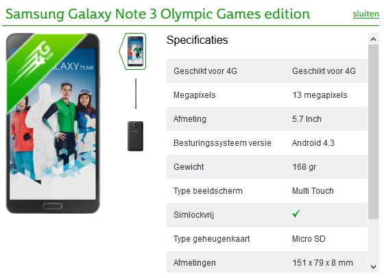 Samsung Galaxy Note 3 Olympic Games Edition