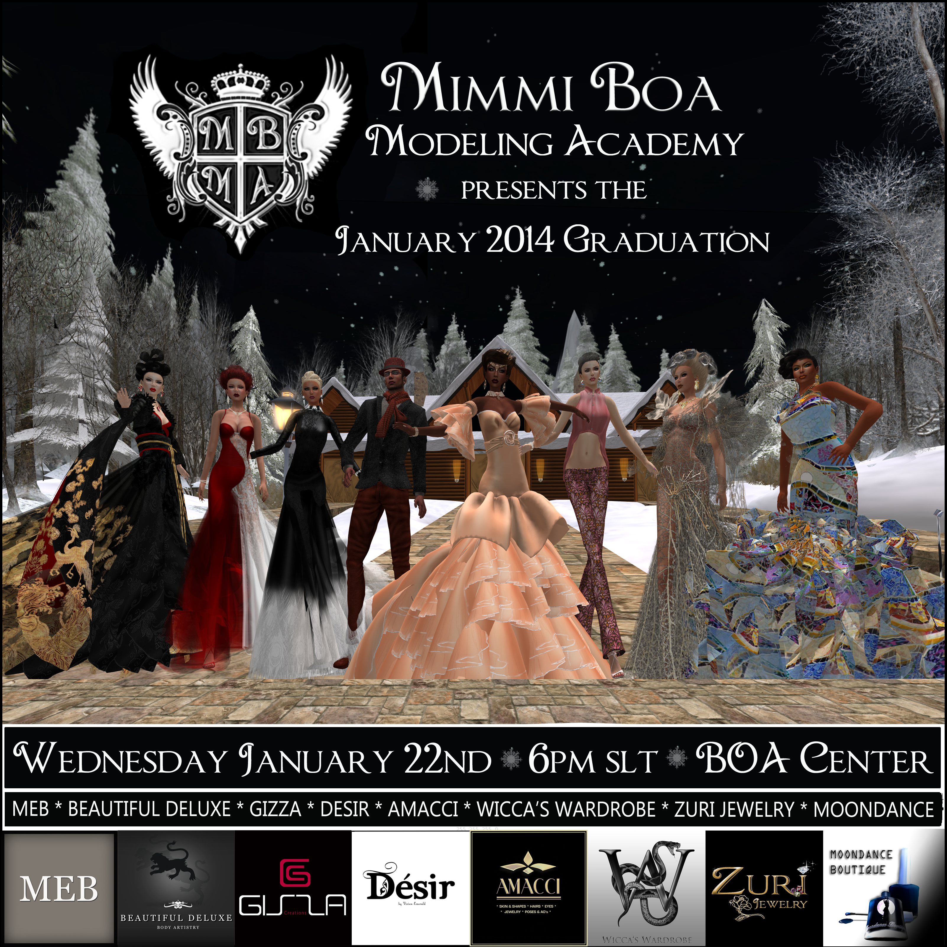MBMA January 2014 Grad Show Invitation