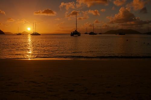 travel sunset sea sun beach water silhouette photoshop mar nikon yacht dusk caribbean nikkor tortola contrejour jostvandyke bvi britishvirginislands canegardenbay westindies jvd intothelight d300s 18105mmf3556 nikon18105mmf3556