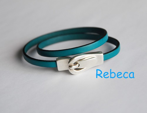 Pulsera cuero doble by rbk_rebeka