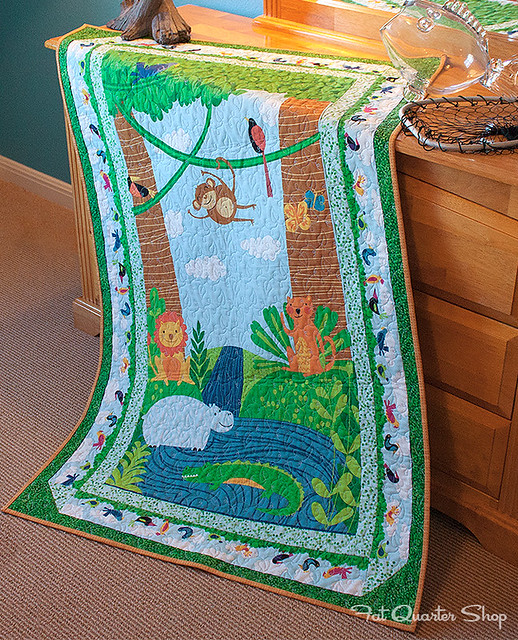 Rainforest Fun Quilt Kit featuring Rainforest Fun by Arrolynn Weiderhold