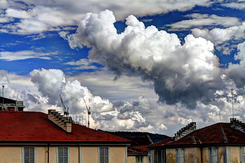 Strange clouds.....