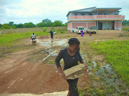 Construction work at the new postulancy in Dassa Zoumé, Benin, which is part of the Nigeria Province