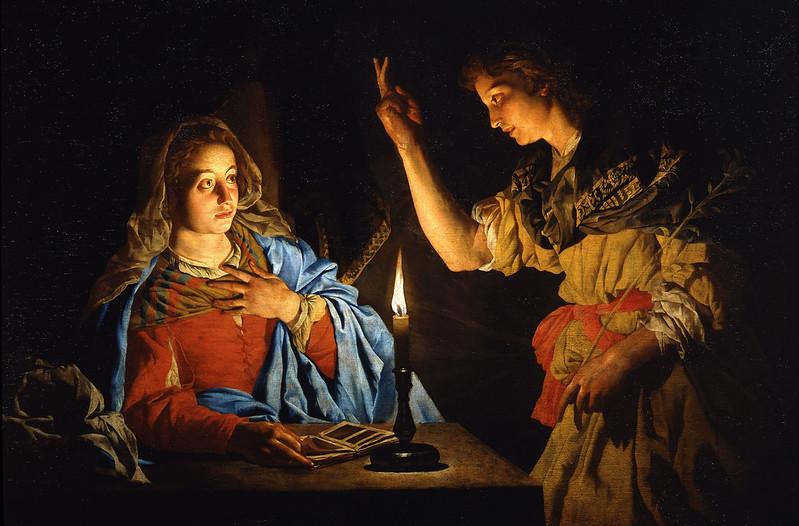Matthias Stomer - Annunciazione