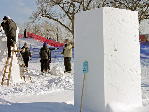 2014 Snow Sculpture Contest block shape