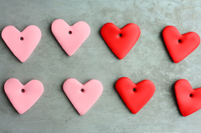 baked-clay-heart-ornaments