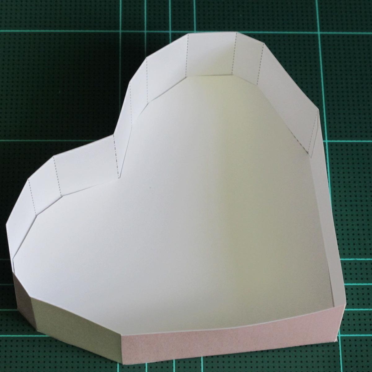 วิธีทำโมเดลกระดาษเป็นกล่องของขวัญรูปหัวใจ (Heart Box Papercraft Model) 015