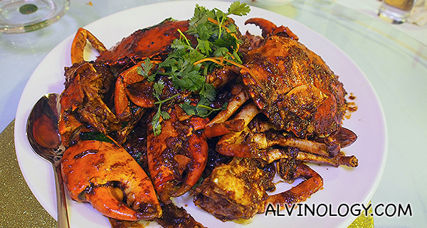 Gan Xiang Crab (market price - estimated at $55 per kg)