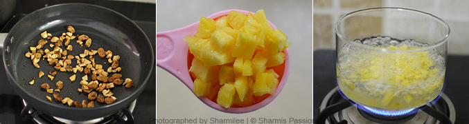 How to make pineapple kesari - Step1