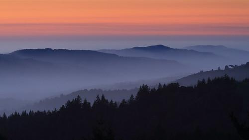 california sunset silhouette night haze cloudy dusk hills sanandreasfault marincounty eveningsky olemavalley