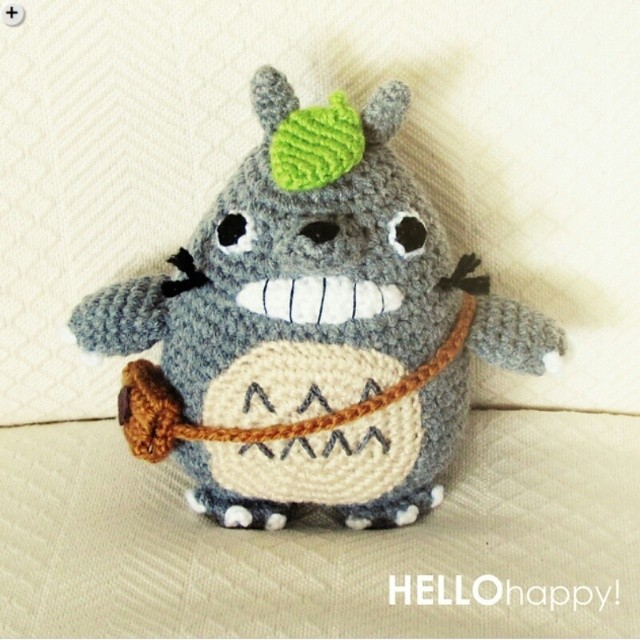 Ravelry: Grey Totoro Amigurumi pattern by Lucy Collin | 500x500