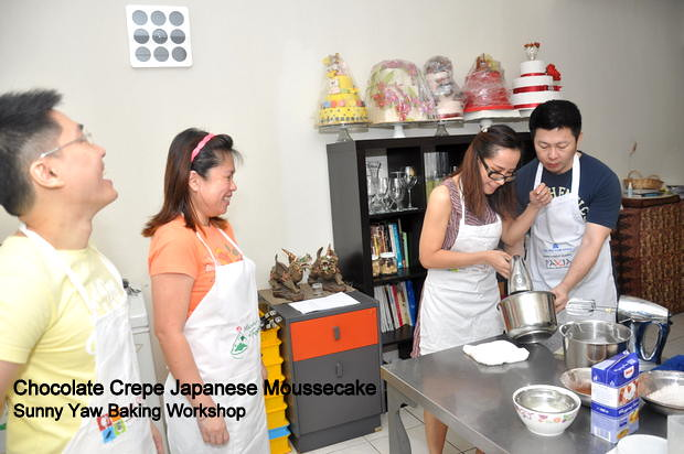 Sunny Yaw Baking Workshop Chocolate Crepe Japanese Moussecake 2