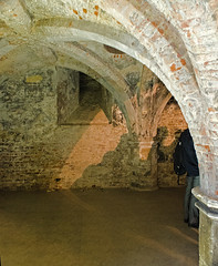 Arch in the undercroft, Queen Anne Court, Old Royal Naval College, Greenwich