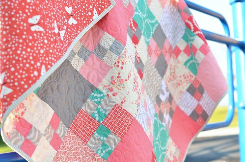 pretty penny patch baby quilt