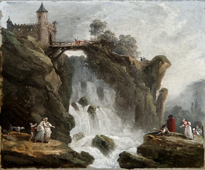 Hubert Robert - La cascade marges (c.1775)