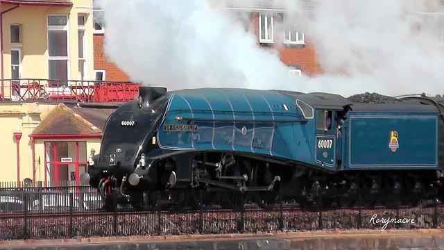 LNER 60007 'Sir Nigel Gresley' at Dawlish