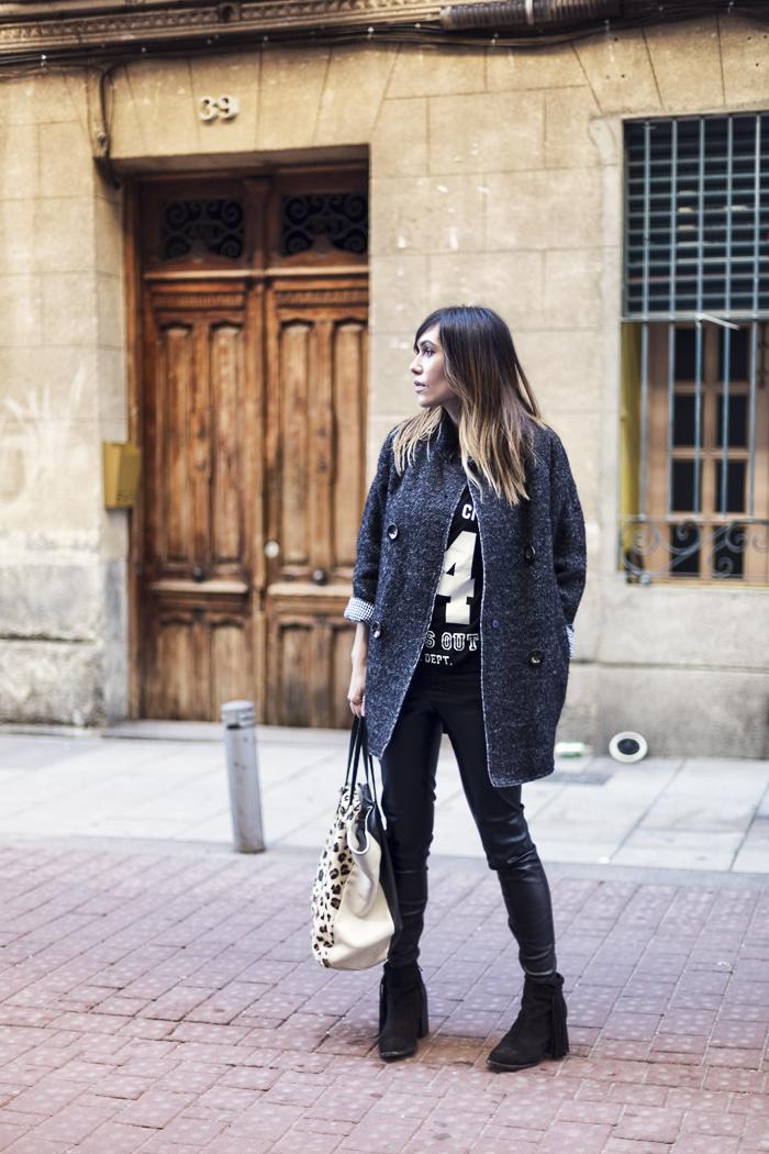street style barbara crespo 6ks cocoon coat fashion blogger outfit blog de moda