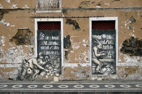 Fassadenkunst in Ponta Delgada