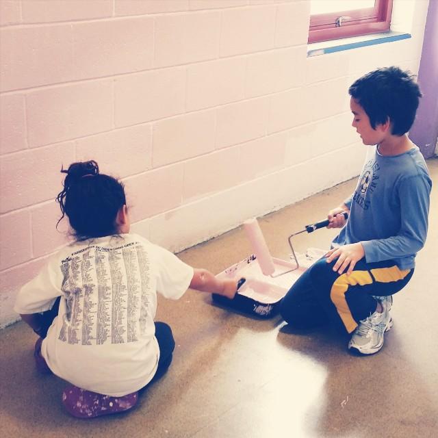 #cityuprising Day 2: Painting at James McHenry Elementary / Middle School #worshipoutsidethebox