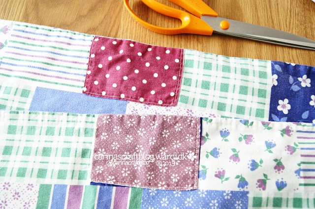 Vintage fabric - patched