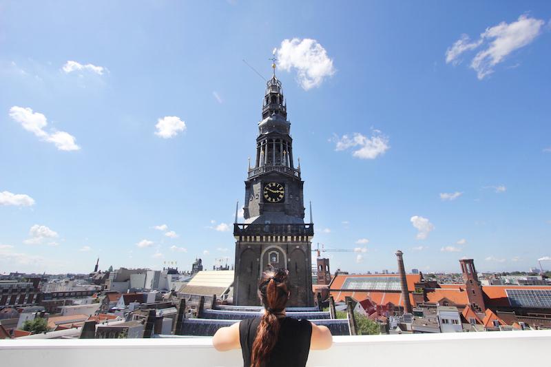 Oude Kerk Amsterdam clock tower