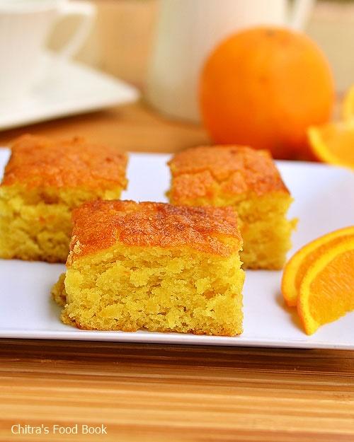 Orange Juice Cake Eggless