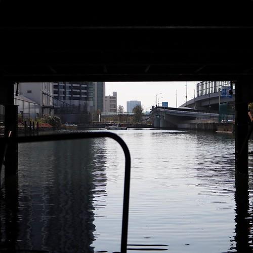 水門をくぐって、出発!隅田川へ。 #勝どきマリーナ #ヤマハマリン #seastyle