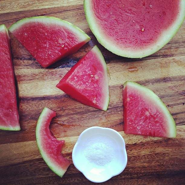 Watermelon + sea salt.