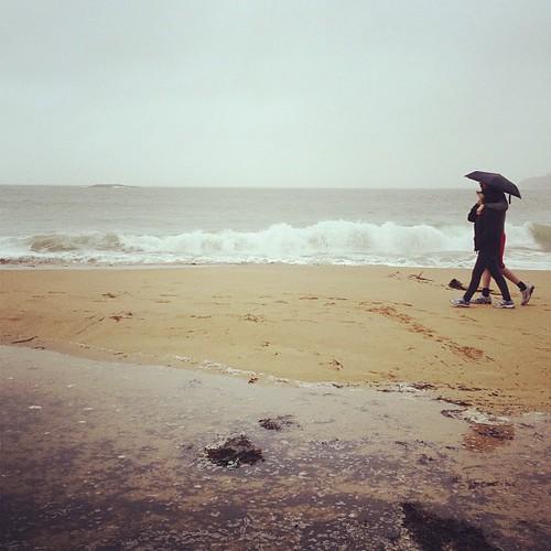 狂風暴雨逛beach.. Day_068