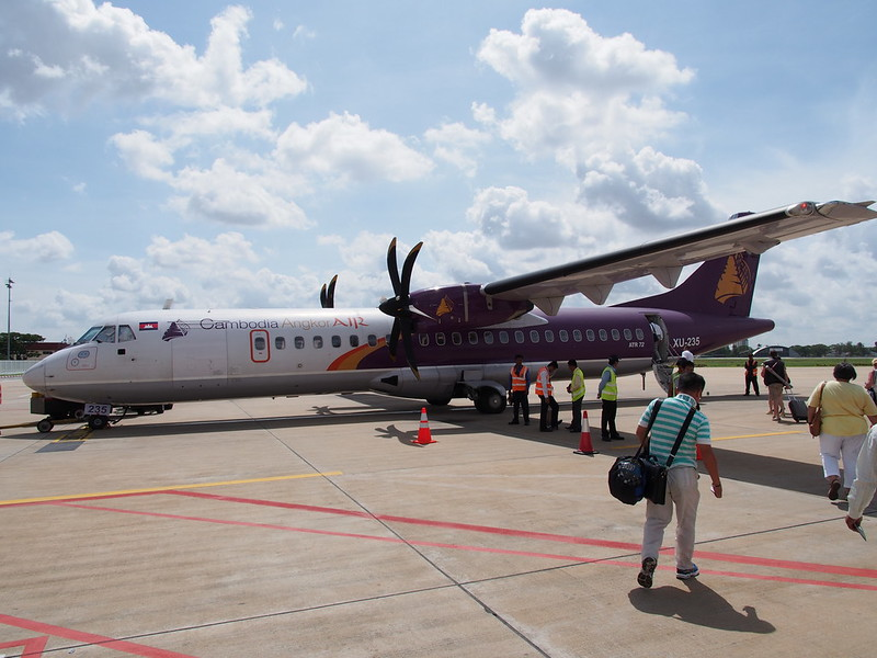 Cambodia Angkor Air ATR72 at Phnom Penh Airport