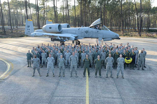 A group photo of the 81st in Portugal
