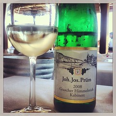 Lunch w the amazing JJ Prum & an old friend. #happy #me #riesling #Mosel